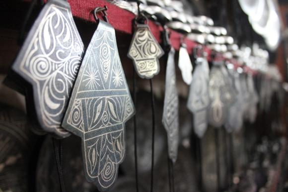 Silver work in Meknes